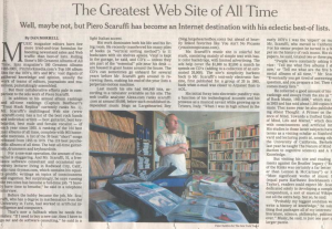 NY Times article. 15 Oct 2006.